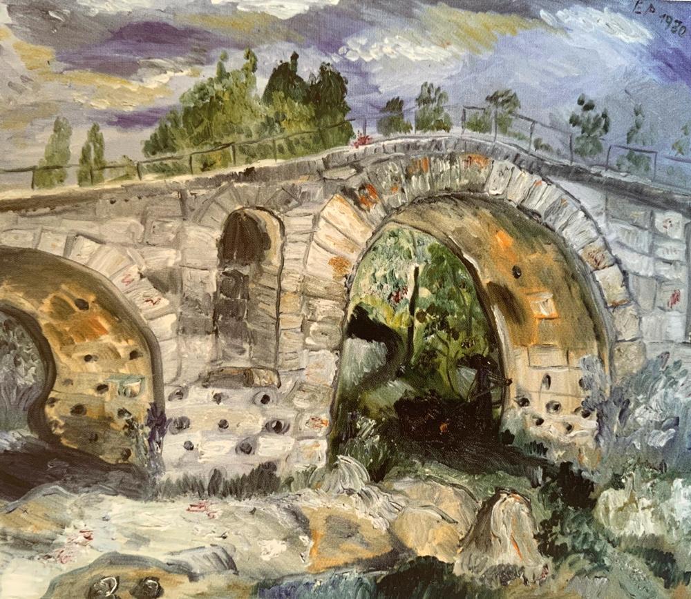 Pont Julien (Provence) - 1980 (Öl auf Leinwand)